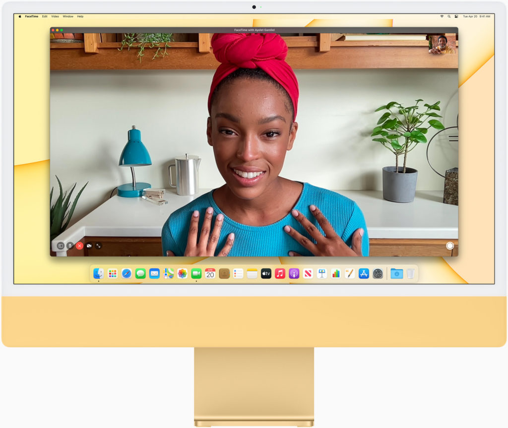 """The front of a new 24"""" iMac"""